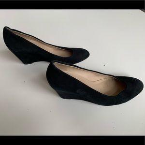 Via Spiga black wedge shoes